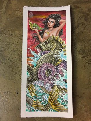 SOLD OUT - ORIGINAL ART Javi Castaño MERMAID I 25,5X57CM