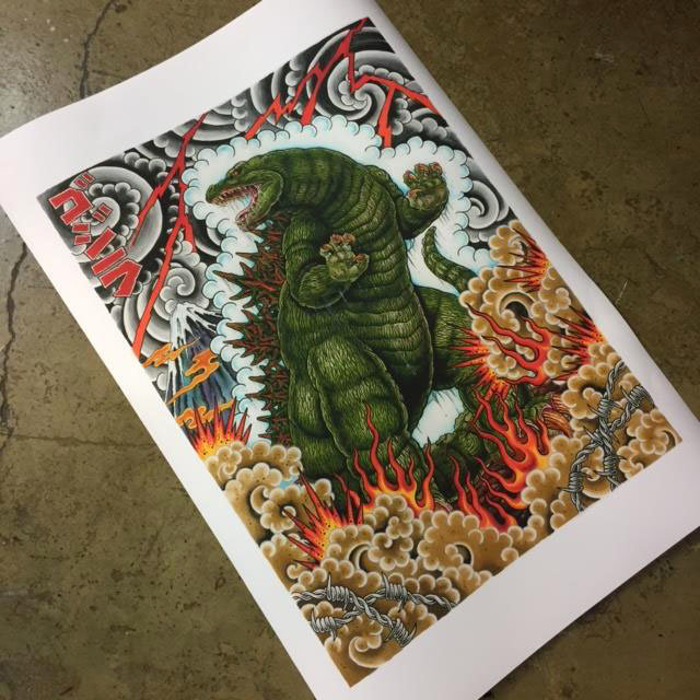 SOLD OUT Print 90x60 Godzilla by Javi Castaño
