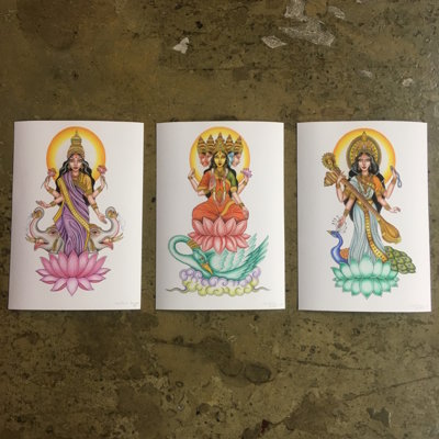 Set of 3 Goddesses prints by Carolina Angel -SOLD OUT-