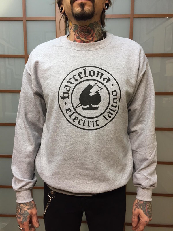 SOLD OUT - SUDADERA GRIS LOGO BCN ELECTRIC