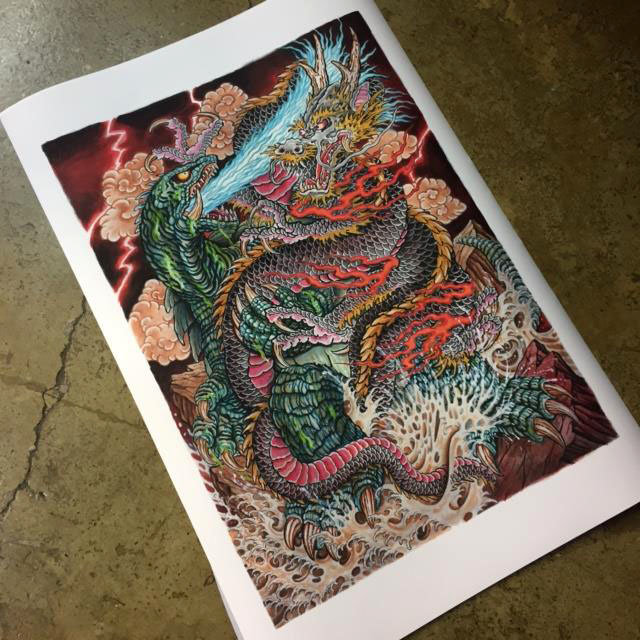 SOLD OUT Print 90x60 Gamera by Javi Castaño