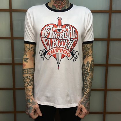 SOLD OUT Camiseta blanca HEART&DAGGER -SOLD OUT-