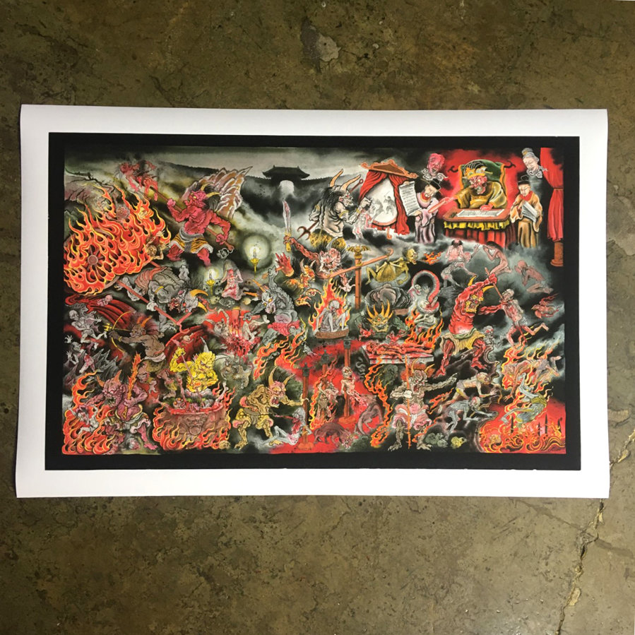 "SOLD ""INFIERNO"" - Fundraiser for Javi Castaño"